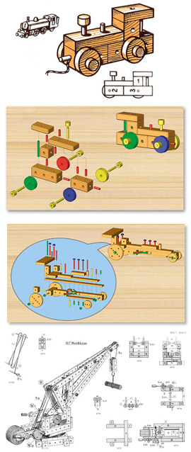Matador, educational toys, wooden toys, construction sets