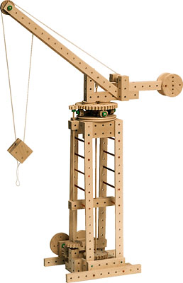Matador, educational toys, wooden toys, model crane
