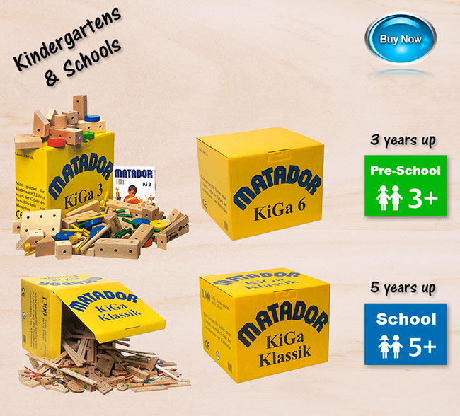 Matador wooden construction sets schools kindergartens